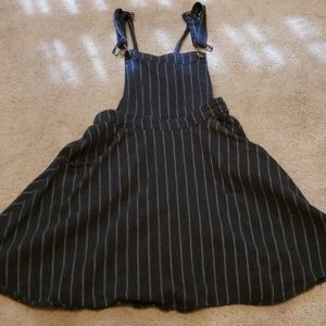 Black and gray overall dress